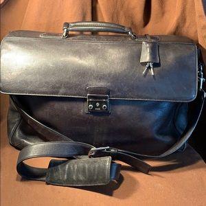 Vintage Coach lock/keys computer shoulder leather